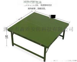 [鑫盾安防]便攜野戰折疊桌椅 軍綠色折疊桌廠家