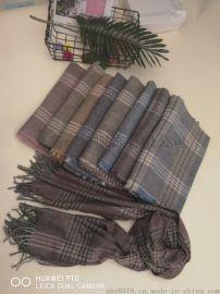 专业生产羊绒羊毛晴棉真丝围巾丝巾方巾披肩商务风格