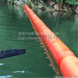 水上攔垃圾廠家塑料攔截網浮筒