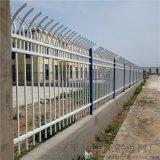 公园双弯弧围墙护栏 工厂锌钢栏杆   园林防护栏