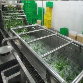 蔬菜水果气泡清洗机 喷淋式菜叶类气泡清洗机