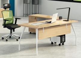 胶板办公桌02A-01款 绿色环保实木颗粒板