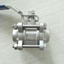 不锈钢焊接三片式球阀 DN25 3PC球阀1寸
