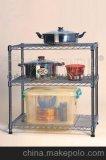 热销全球的厨房置物架/镀铬层架/线网储物架生产工厂