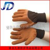 质优价廉厂家直销乳胶发泡劳保手套耐油耐酸碱工业防护高弹力