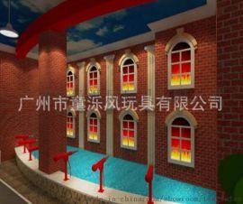 模拟灭火现场北京赛车儿童消防职业体验馆消防员角色扮演