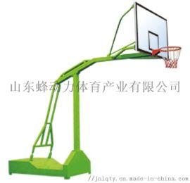 山东蜂动力体育器材厂家供应凹箱式单臂篮球架