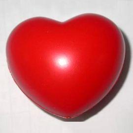 永恒爱心红色PU枕头