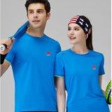 夏季户外马拉松跑步健身房男女工作服圆领短袖速干T恤定制印logo