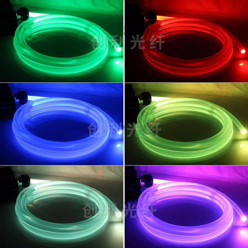 超亮5mm通体发光光纤侧面发光光纤光纤导光导光条LED光纤光纤材