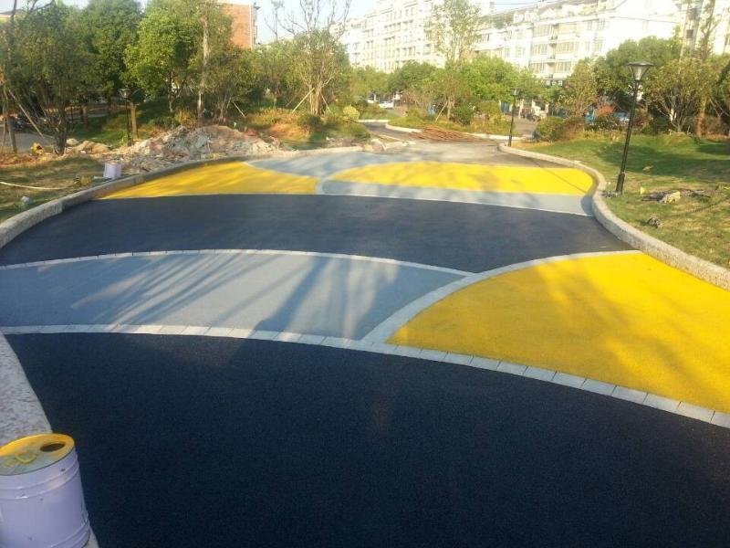 彩色透水混凝土增强剂外加剂地坪强化料透水混凝土胶结料路面厂家直销质量保证 上海海绵