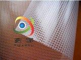 廠家大量現貨供應6P環保0.3厚度透明PVC夾網布、pvc網格布