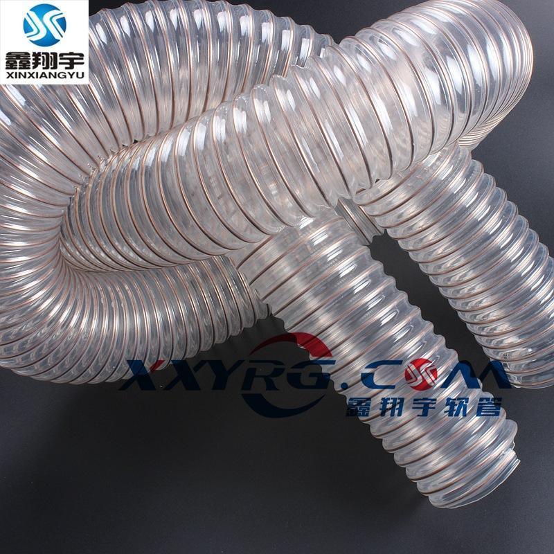 耐磨聚氨脂pu钢丝伸缩管, 工业吸尘管, 除尘管, 集尘通风管6寸150