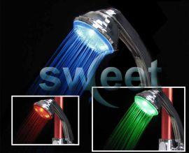 LED自发电温控发光花洒