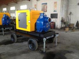 移动式柴油机水泵 拖车水泵