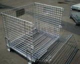 深圳折叠式仓储笼,仓储笼厂,金属仓库笼,移动折叠笼