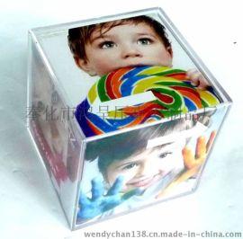 压克力正方形盒子相框 亚克力六面体相框