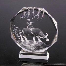 水晶纪念深雕摆件 **活动颁奖奖杯 k9水晶奖牌