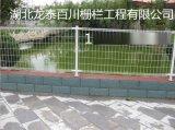 专业生产绿色环保双圈护栏网 小区防护网 市政园林卷圈护栏网