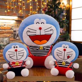 穿衣叮当猫玩具可爱哆啦A梦毛绒玩具机器猫蓝胖子布娃娃玩偶批发