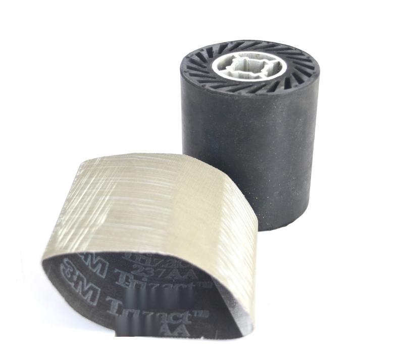 橡膠輪帶砂帶拋光打磨頭頁輪工業車間磨牀黑色滾輪