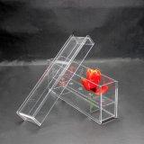 厂家定制亚克力存花盒5孔长方形亚克力花盒 透明永生花盒按需定制