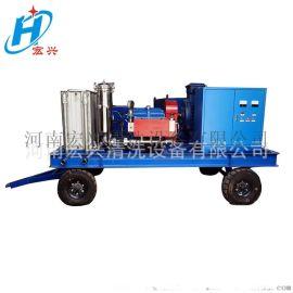 电动高压冷水清洗机 工业换热器冷凝器高压管道清洗机