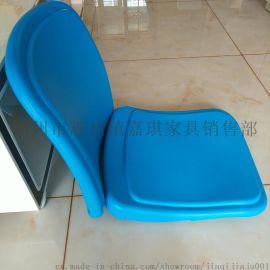 中空吹塑排椅-阶梯教室排椅/桌椅-弹簧回位-塑料扶手