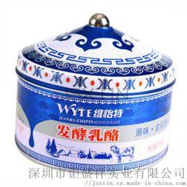 牛扎糖食品铁盒包装 蒙古老奶糖铁罐 奶酪金属铁盒