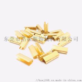 厂家出售 冲压 针织尾夹  锌合金绳带头