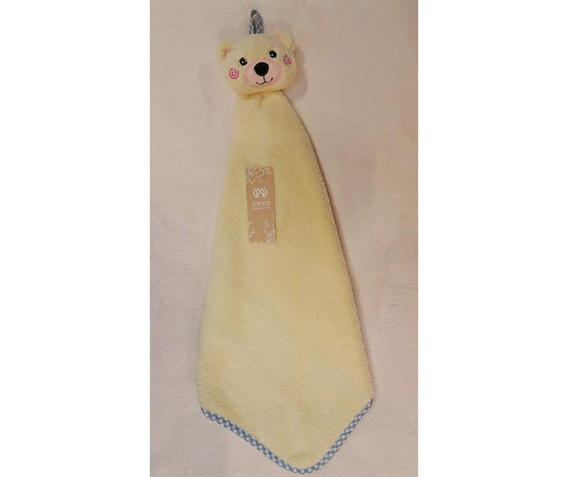新品可爱珊瑚绒小方巾 超强吸水不掉毛耐脏擦手小方巾