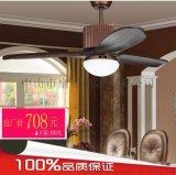 欧式创意古典吊扇带灯遥控餐厅风扇不带灯复古客厅实木美式吊扇