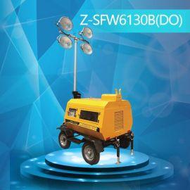 9米氣動升降移動照明燈塔 四節杆升降煤礦照明燈