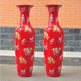 現在創意仿古時尚陶瓷落地大花瓶 孔雀陶瓷大花瓶 商務禮品 節日用品