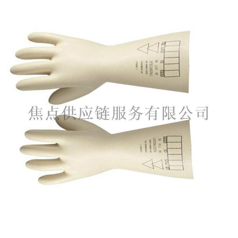 霍尼韦尔高性能天然防电乳胶高压电工绝缘手套0.5kv 2091903 9码/10码