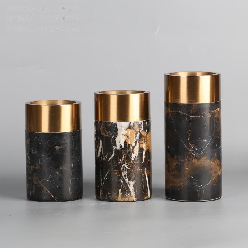 創意時尚擺件家居裝飾品乾花花器花瓶花藝間爛漫燭臺新房修軟裝飾