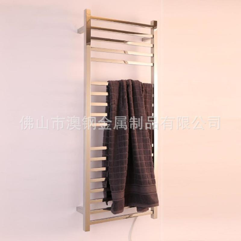 8杆方管不锈钢电热毛巾架,工程酒店外贸专用毛巾架