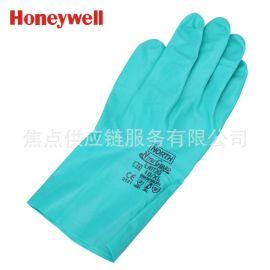 正品霍尼韋爾植絨襯裏工業丁腈防化手套 LA132G 耐油耐酸鹼 9碼