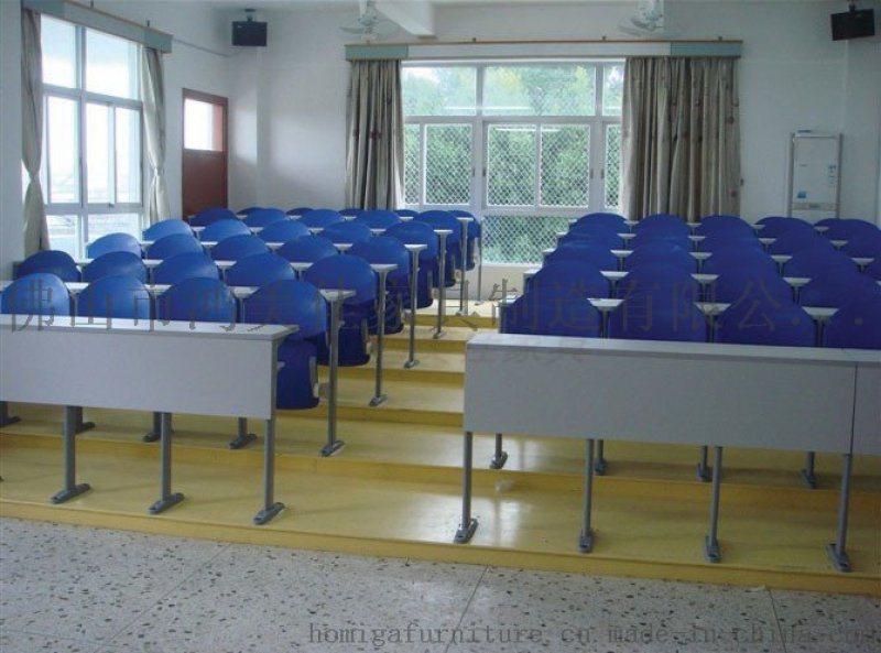 固定式聯排會議桌椅,廣東鴻美佳會議聯排桌椅廠家定製