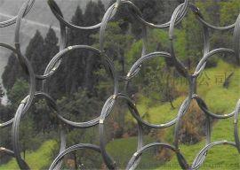 环形钢丝绳网_边坡被动防护网_菱形网_拦石网