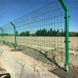 高速公路双边丝护栏网重庆厂家浸塑护栏网绿色铁丝围栏