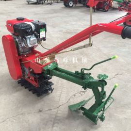 小型手扶履带独轮微耕机,除草施肥链轨管理机