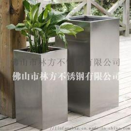 拉丝不锈钢花盆定做 商场组合花盆花箱加工