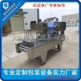 全自动杯装豆浆灌装封口机 早餐甜豆浆灌装机厂家