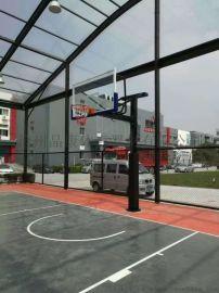 固定式圆管篮球架 天津篮球架 学校篮球架