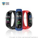 厂家直销测血压心率智能手环USB充电多运动模式礼品