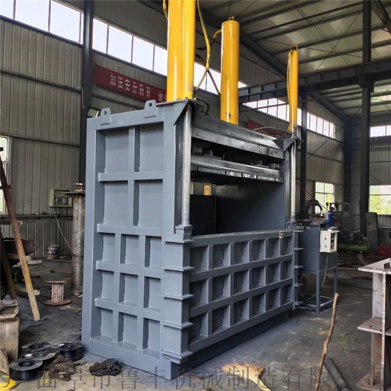 编织袋打包机 立式废纸箱60吨打包机