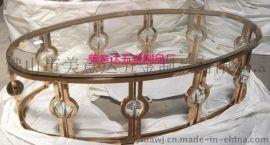 不锈钢餐台 酒店不锈钢茶几 雕刻花纹 做工精细