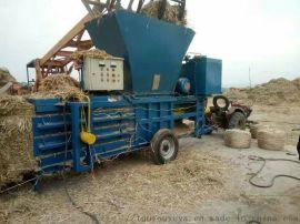 油菜杆卧式可行走式小型花生秧打包成型压块机