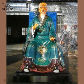 河南医祖扁鹊佛像 神医华佗神像细节图 药师如来佛像